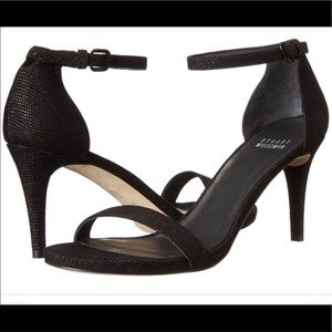 Stuart Weitzman Nunaked Black Goosebump Sandal 8M